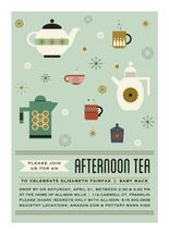 Afternoon Tea & Kettles by paperBLDG Studio