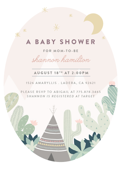 baby shower invitations - Cactus Garden by Joanna Griffin