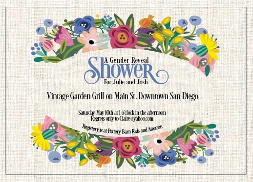 baby shower invitations - Vintage Garden by Lisa Rodgers