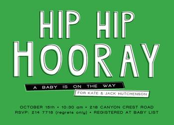 hip hip hooray a baby is on the way