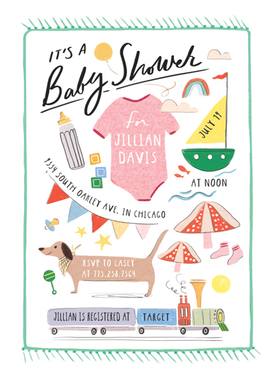 baby shower invitations - Baby Blanket by Morgan Ramberg