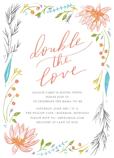 baby shower invitations - lotus by Sweetgrass Paper Company