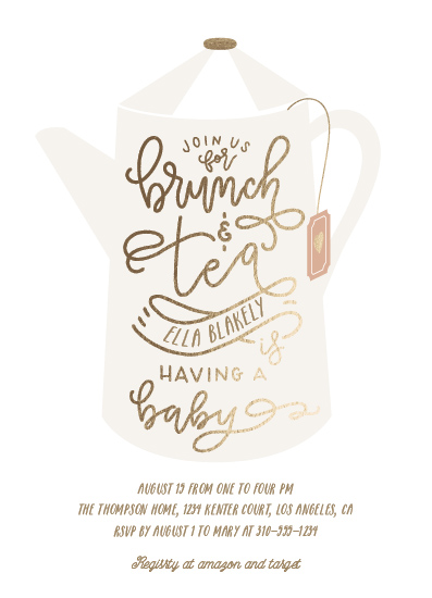 baby shower invitations - Brunch And Tea by Leah Bisch