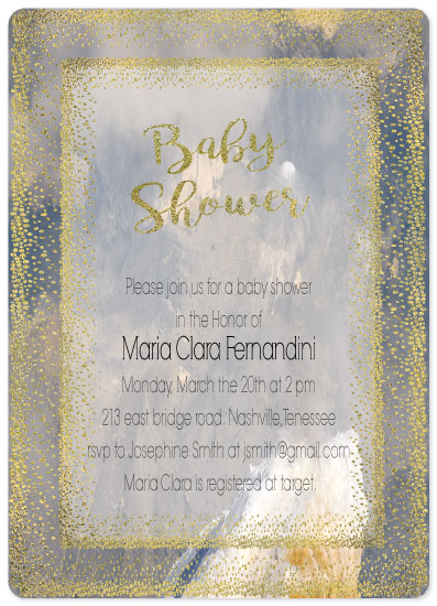 baby shower invitations - Twinkle by Vivian Design