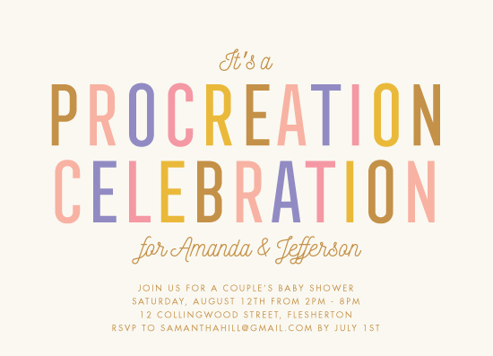 baby shower invitations - Procreation Celebration by Stacey Hill