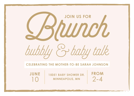 baby shower invitations Brunch Bubbly Baby Talk at Mintedcom