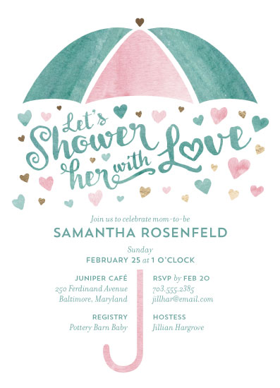 baby shower invitations - Shower with Love by Lauren M Design