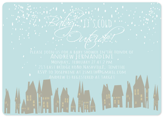baby shower invitations - Baby It's Cold Outside! by Vivian Design