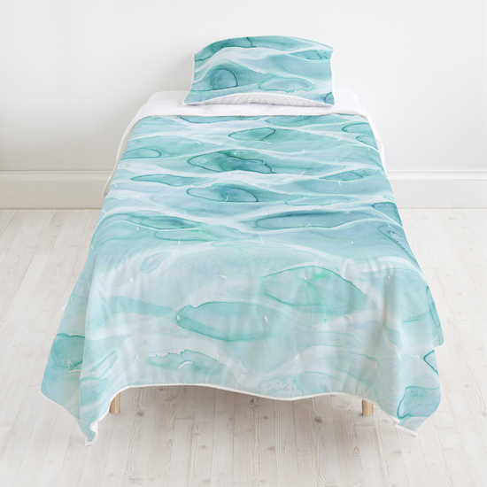 - Playa Seven quilt + Playa Seven sham by Minted Artists