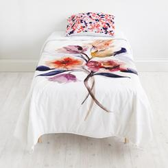 Grecian Floral quilt + Pond Full of Koi sham