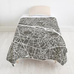 Paris Map quilt + Pointillism sham