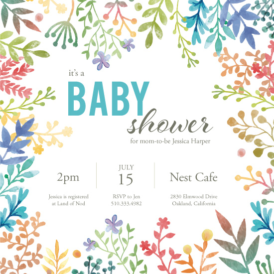 baby shower invitations - Shower Power by Annie Dickerson