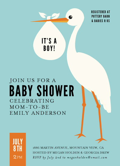 baby shower invitations - stork style by design market
