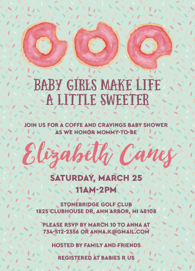 baby shower invitations - Baby Girls Make Life Sweeter by Laurel Twist