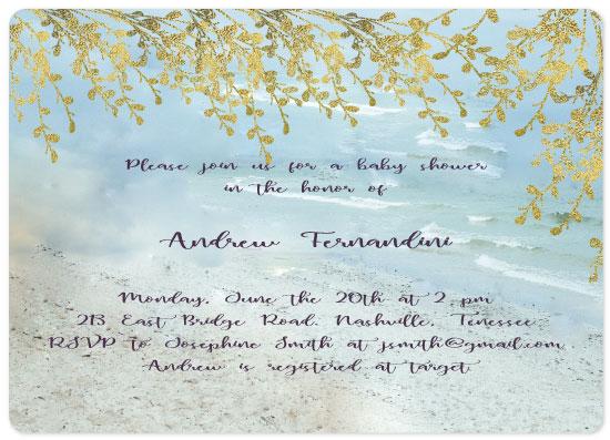 baby shower invitations - Summer Lights by Vivian Design