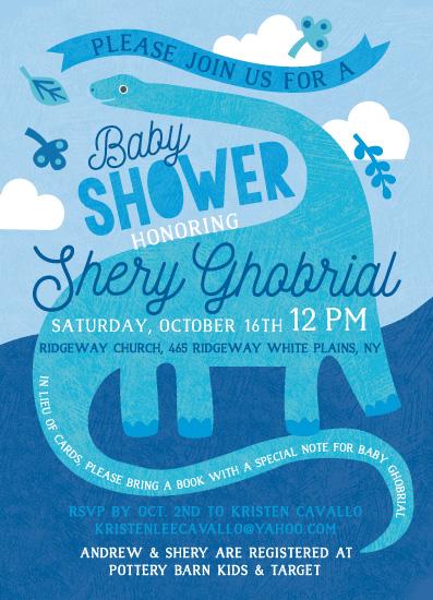 baby shower invitations - Happy Dino by Kristen Cavallo