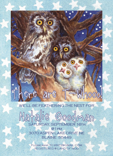 baby shower invitations - Nesting by Karen Ritz