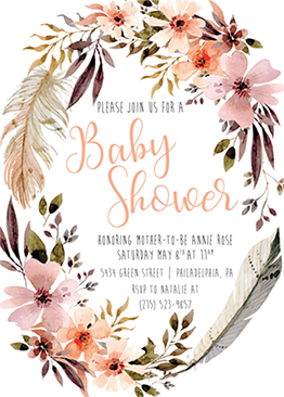 Baby Shower Invitations Bohemian By Nicole Whitney