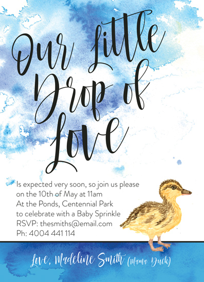 baby shower invitations - Our Little Drop of Love by Elizabeth Kelly