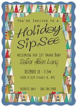 Grand Baby Sip and See Holiday