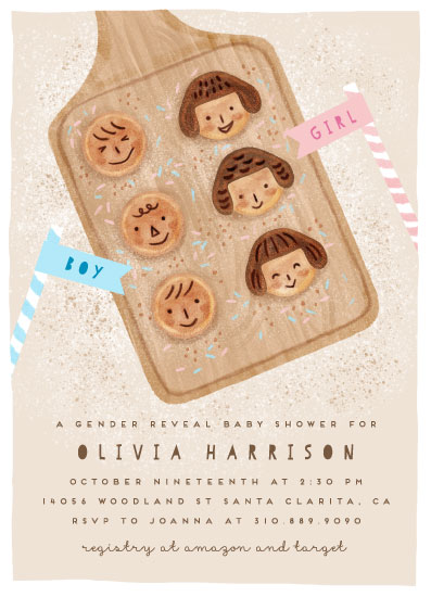 baby shower invitations - Boy or Girl Cookies by iamtanya