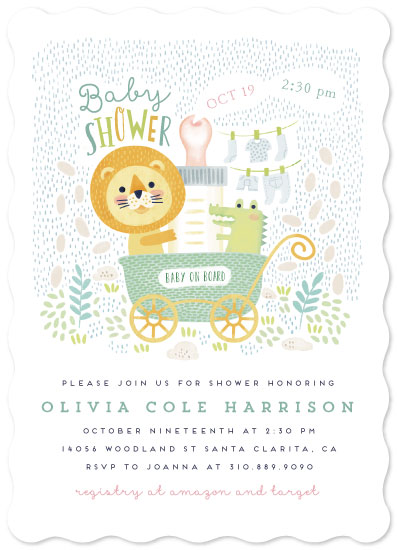 baby shower invitations - Baby on board by iamtanya