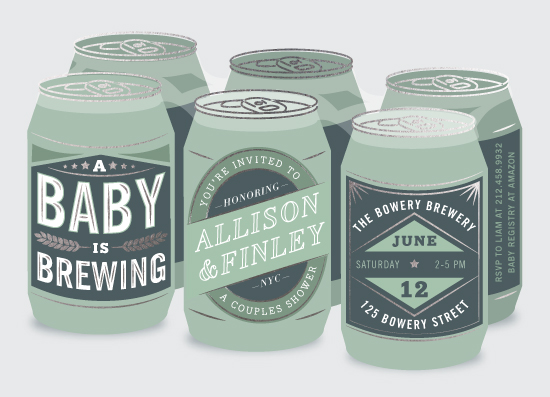baby shower invitations - Brewery by Jennifer Lew