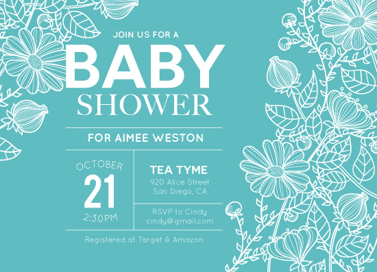 baby shower invitations - Flower Shower by Annie Dickerson