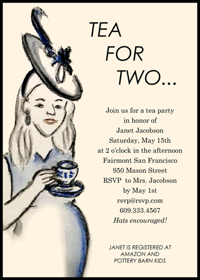 baby shower invitations - Tea for Two, and Two for Tea by Laura Ann Trimble Elbogen
