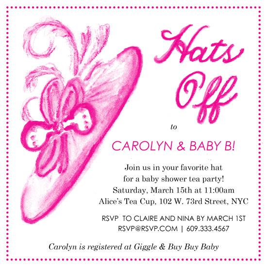 baby shower invitations - Hats Off by Laura Ann Trimble Elbogen