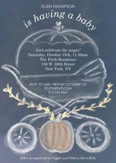 baby shower invitations - Pumpkin Carriage by Laura Ann Trimble Elbogen