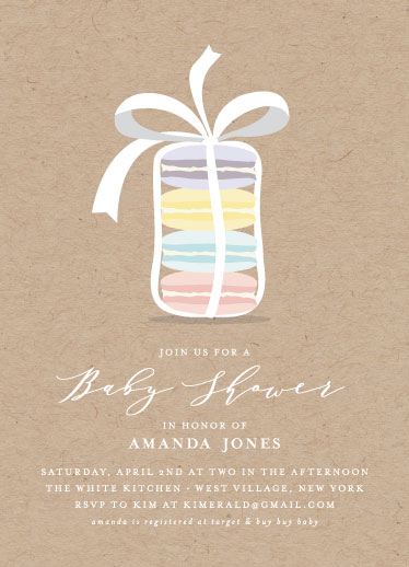 baby shower invitations - Little Macarons by Marnel