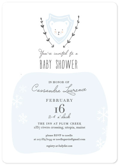 baby shower invitations - Polar Cutie by Rachel K. Swanson