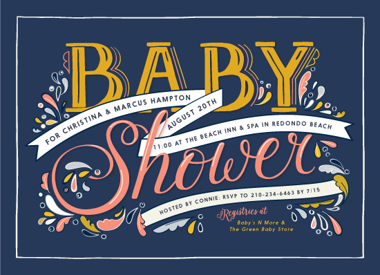 baby shower invitations - Country Letters by Becky Nimoy