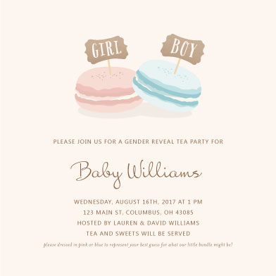 baby shower invitations - Tea & Sweets by Marnel