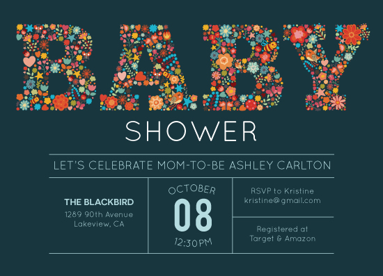 baby shower invitations - Flowery Shower by Annie Dickerson