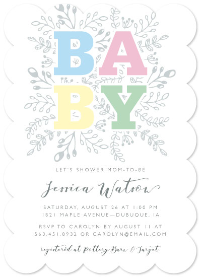 baby shower invitations - Blocky Baby by Mabe Design Co.