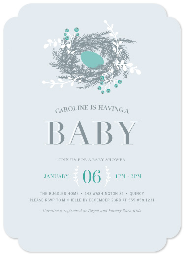 baby shower invitations - Winter Nest by Paula Pecevich