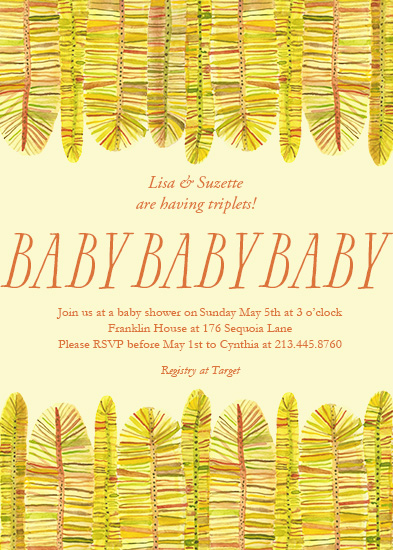 baby shower invitations - Triple Babies by Shoshannah