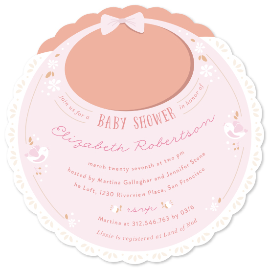 baby shower invitations - vintage bib by Creo Study