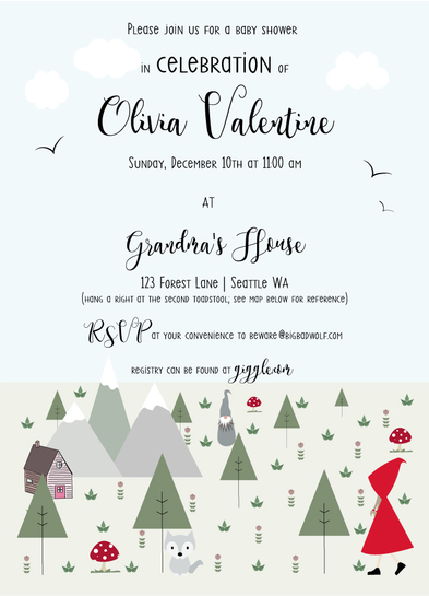 baby shower invitations - Grandma's House by Chloe-Belle Porter