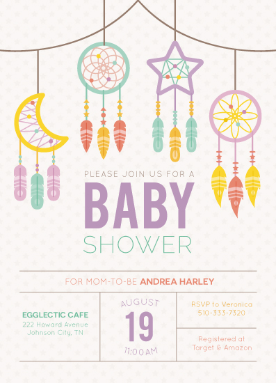 baby shower invitations - Boho Baby Shower by Annie Dickerson