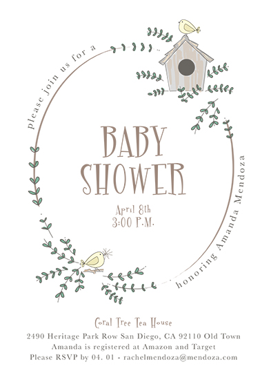 baby shower invitations - Sweet Awaiting by Tatiana Nogueiras
