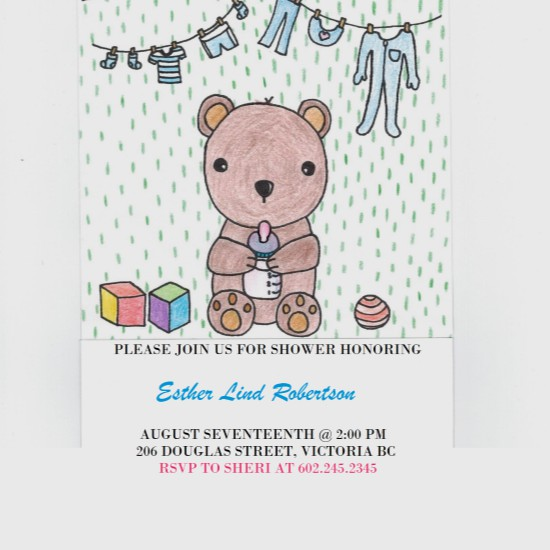 baby shower invitations - Baby's Happy Life by itsgrace