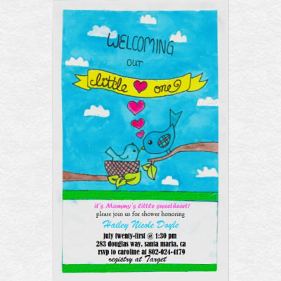 baby shower invitations - Mommy's Little Sweetheart has Arrived! by Grace Z
