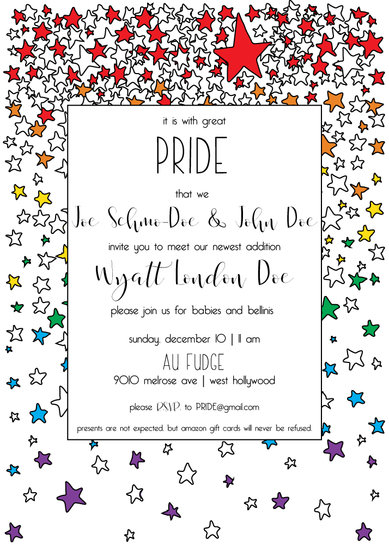 baby shower invitations - PRIDE Baby by Chloe-Belle Porter