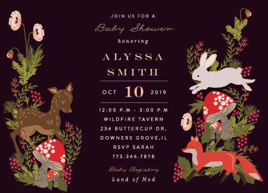 baby shower invitations - Fall Forest by Nazia Hyder