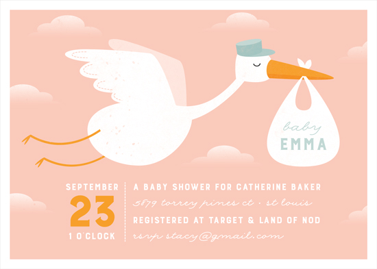 baby shower invitations - Baby Delivery Service by Olive and Me Studios