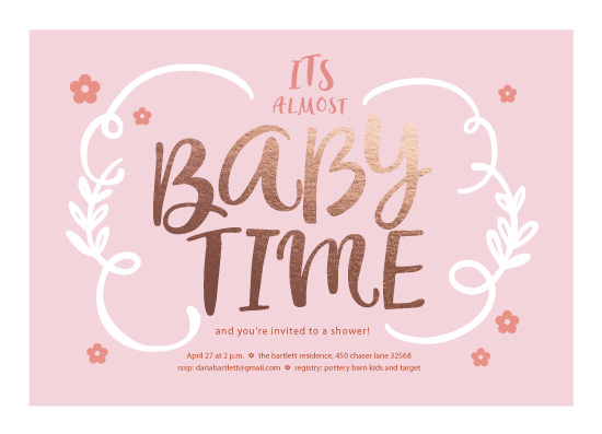baby shower invitations - Baby Time by Mary Cecelia