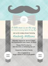 Little man mustache bab... by Willow Lane Paper